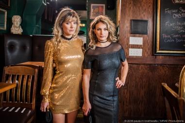 Katie Uhlmann & Trish Rainone on set of MRAE
