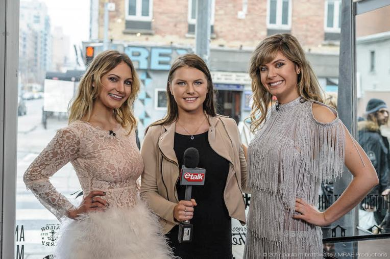 Trish, Chelsea from 'etalk' & Katie